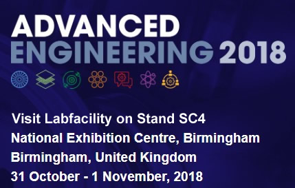 31st October - 1st November 2018 Labfacility exhibiting at the Advanced Engineering Show